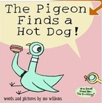 The pigeon finds a hot dog …. the paradis !